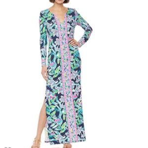 LILLY PULITZER UPF 50+ Faye Maxi Dress XXS